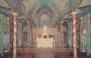 Hawaii Kona St Benedict's Catholic Church Interior