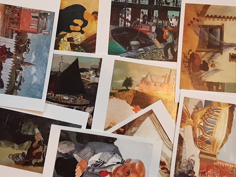 50 New ART Postcards Ideal for Postcrossing, all different VERY POPULAR
