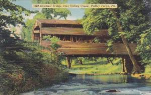 Old Covered Bridge Over Valley Creek Valley Forge Pennsylvania
