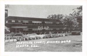 C10/ Sparta Illinois Il Real Photo RPPC Postcard c1950s Randolph Co Nursing Home