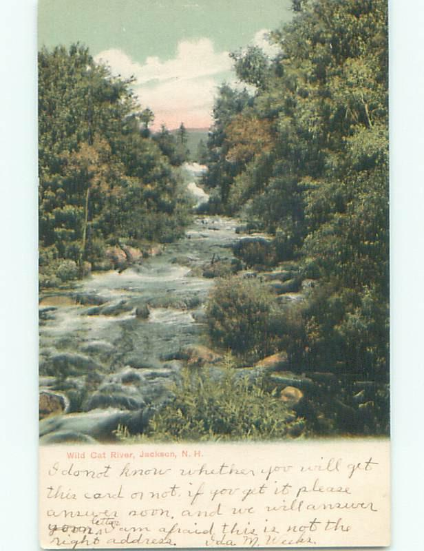 Pre-1907 WILD CAT RIVER Jackson New Hampshire NH n5914