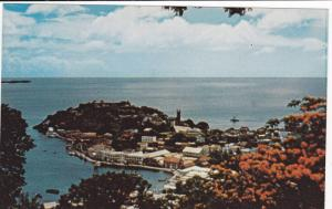 Aerial View, Fort George and harbour, St.George´s, GRENADA, West Indies, 40-60s