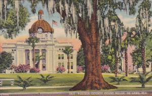 Florida Deland Volusia County Court House 1953