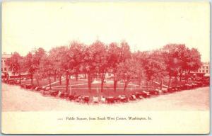 Washington, Iowa Postcard Public Square, From South West Corner Downtown 1910s