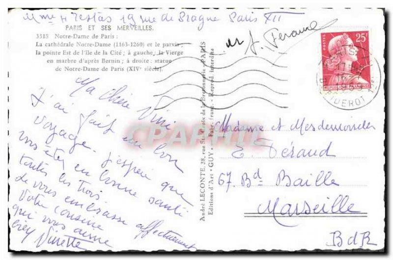 Old Postcard Notre Dame de Paris