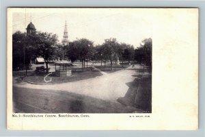 Southington CT-Connecticut, Town Centre, Gazebo, Clock Tower, Vintage Postcard