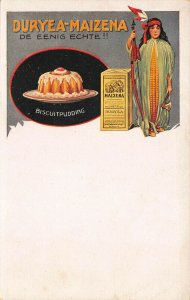 Duryea-Maizena The ONLY REAL !! Biscuit Pudding Advertising Postcard