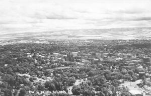 Walla Walla Washington~Birdseye Panorama~1950s Real Photo Postcard~RPPC