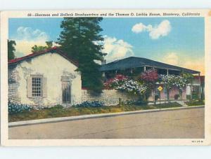 Unused Linen HISTORIC HOME Monterey California CA d0883