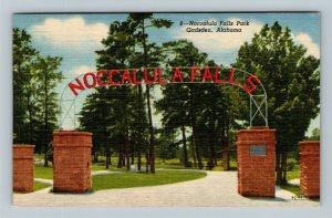 Noccalula Falls Park, Vintage, Gadsden Alabama Postcard