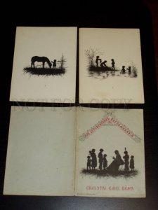 155278 SILHOUETTE by Elisaveta BEM Set 10 lithographs 1882