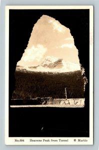 RPPC of Heavens Peak MT, View From Tunnel, Montana Postcard