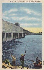 Kentucky Fishing Below Kentucky Dam Western Kentucky Curteich