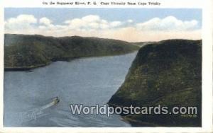 Saguenay River, PQ Canada, du Canada Cape Trinity Saguenay River, PQ Cape Tri...