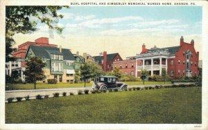 USA Buhl Hospitaal and Kimberley Memorial Nurse Home Sharon Postcard 07.21
