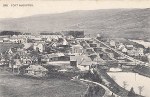 P1857 old postcard fort augustus a village, scotland