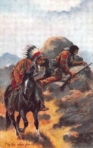 Raphael Tuck The Wild West Harry Payne On the war path Postcard