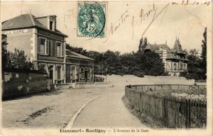 CPA LIANCOURT-RANTIGNY L'Avenue de la Gare (376871)