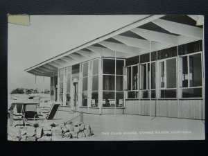 East Sussex HASTINGS Combe Haven Caravan Park THE CLUB HOUSE c1950's RP Postcard