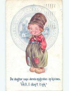 Divided-Back CHILDREN SCENE Great Postcard AA6546