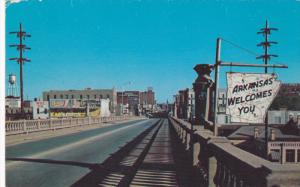 Garrison Avenue, Looking East, Bridge, FORT SMITH, Arkansas, 1940-1960s