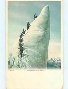 Pre-1980 ASCENDING THE SERAC Swiss Alps - Romandy Switzerland Switzerland AG6151