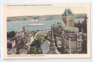 Quebec Canada View of Port from Price Building