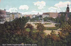 STOCKHOLM, Sweden, 1900-1910's; Royal Garden