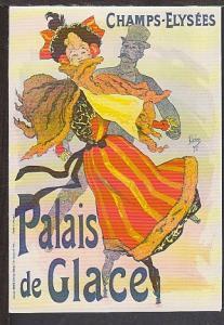 Palais de Glace Skating Rink Reproduction Postcard BIN