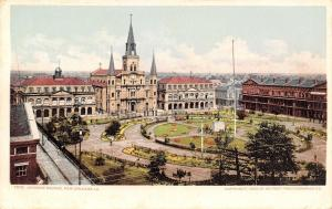 New Orleans Louisiana~Jackson Square Birdseye Panorama~1903 Detroit Pub Co