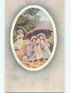 Divided-Back CHILDREN SCENE Great Postcard AA5798