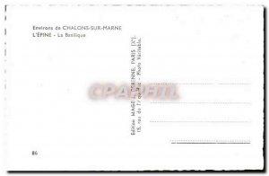 Chalons sur Marne Old Postcard L & # 39epine Basilica