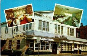 ELK HOTEL and RESTAURANT  Port Jefferson Long Island NY NEW YORK POSTCARD