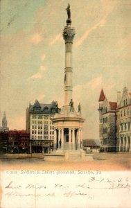 Pennsylvania Philadelphia Soldiers and sailors Monument 1906 Rotograph