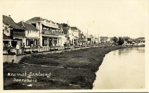 indonesia, JAVA SOERABAIA, Kramat Gantoeng, Tram Street Car 1920s RPPC Postcard