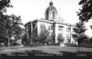 Brookings South Dakota Court House Real Photo Antique Postcard K54125