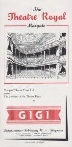 Gigi Musical Anita Loos Rare Theatre Royal Margate Kent Programme