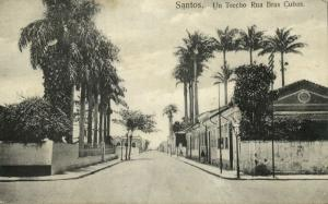 brazil, SANTOS, Un Trecho Rua Bras Cubas (1909) Schwidernoch 8819