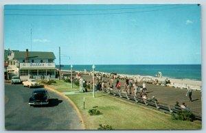 Postcard DE Rehoboth Beach View Boardwalk Dolle's Salt Water Taffy c1950s T10