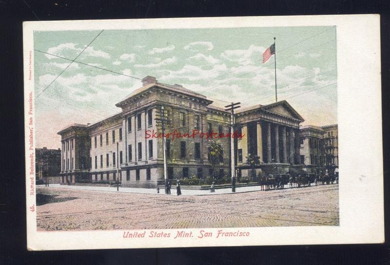SAN FRANCISCO CALIFORNIA UNITED STATES MINT BANKING ANTIQUE VINTAGE POSTCARD