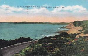 Oregon Portland An Ocean Scene Along The Oregon Coast Highway 1947