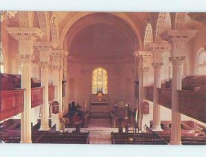 Unused Pre-1980 CHURCH SCENE Charleston South Carolina SC A5677