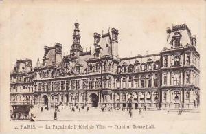 France Paris La Facade de l'Hotel de Ville