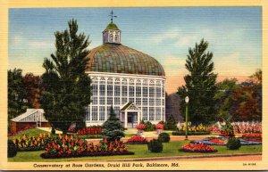 Maryland Baltimore Druid Hill Park Conservatory At Rose Gardens Curteich