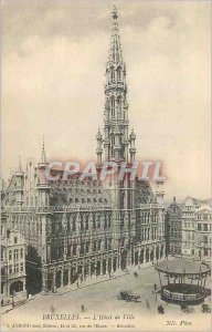 Old Postcard The Brussels Town Hall