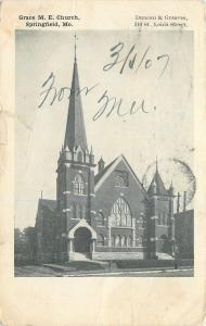 Springfield Missouri~Grace Methodist Episcopal Church~1907 B&W