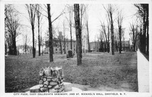 F9/ Oakfield New York Postcard c1910 City Park Collegiate Seminary