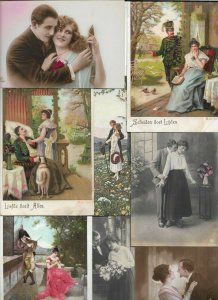 Romantic Couples Victorian Style Fantasy Vintage Postcard Lot of 20   01.17
