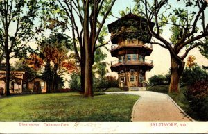 Maryland Baltimore Patterson Park Observatory 1907