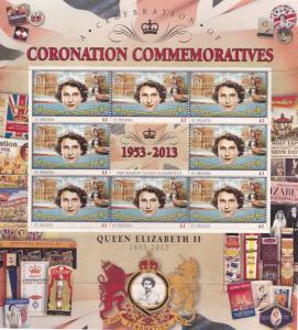 Queen Elizabeth II St Helena Royal Coronation Rare Mint Stamp Block Sheet